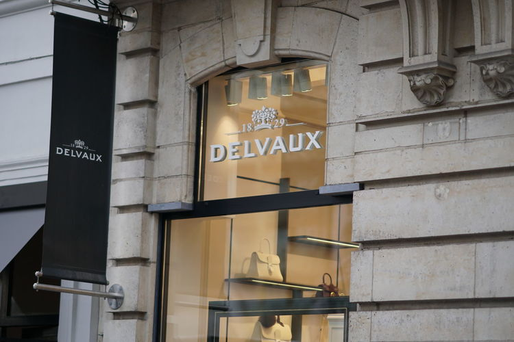Bruxelles, Belgium - December 9, 2017: Delvaux store. Delvaux is a Belgian manufacturer of fine leather luxury goods founded in 1829 by Charles Delvaux Boutique Clothes Store Fashion Stylish Brand Clothes Shop Clothes Shopping Clothing Shop Clothing Store Luxury Outlet Shopaholic Shopping Mall Style