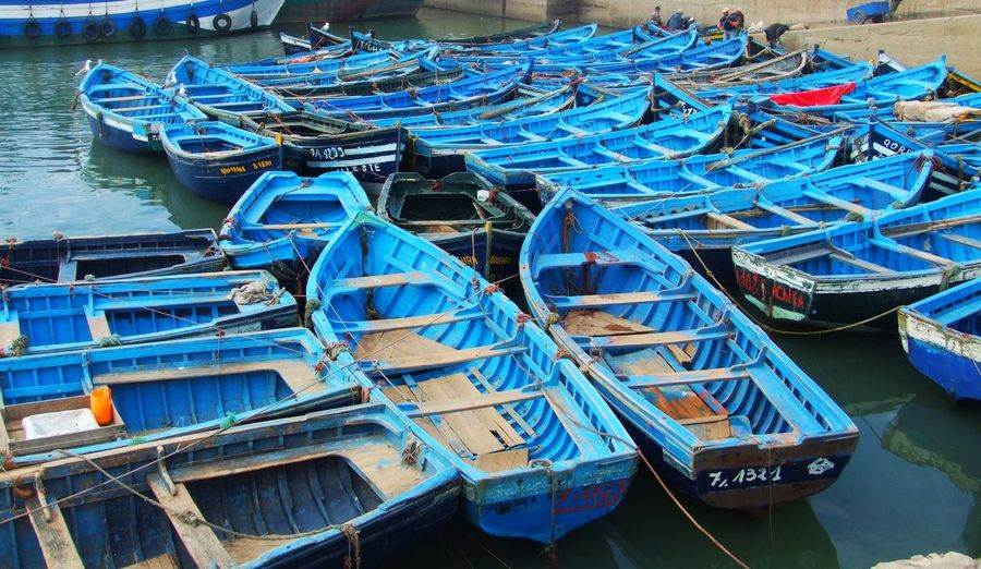 Architecture Blue Boat Boats Day Fisherboats  Harbor High Angle View Marina Nautical Vessel No People Outdoors Port Water Travel Photography Transportation Travel Blue Color