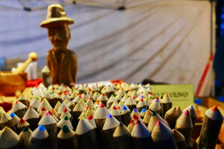 Beautifully Organized Close-up No People Market Market Stall Objects Wooden Art And Craft Craft
