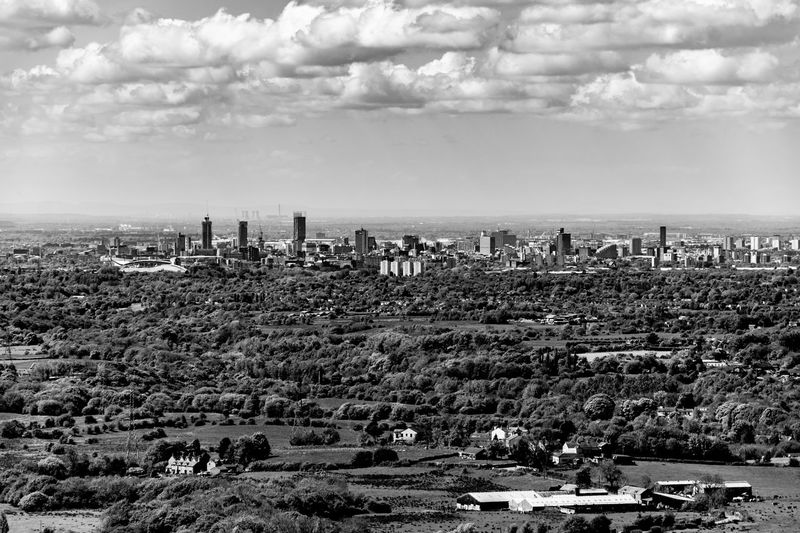 City Cityscape From Above  Long Distance  Manchester Blackandwhite Distant Distant Horizon Uk