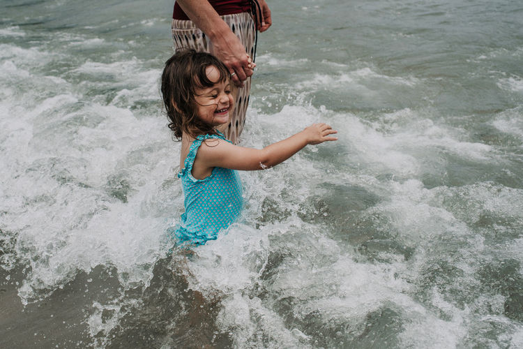 My daughter playing in the sea for the first time <3 Playing With The Animals Bathing Suit  Beach Childhood Elementary Age Father And Daughter Fun Girls Leisure Activity Lifestyles Nature Outdoors Parenting Playing Real People Sea Summer Toddler  Water An Eye For Travel