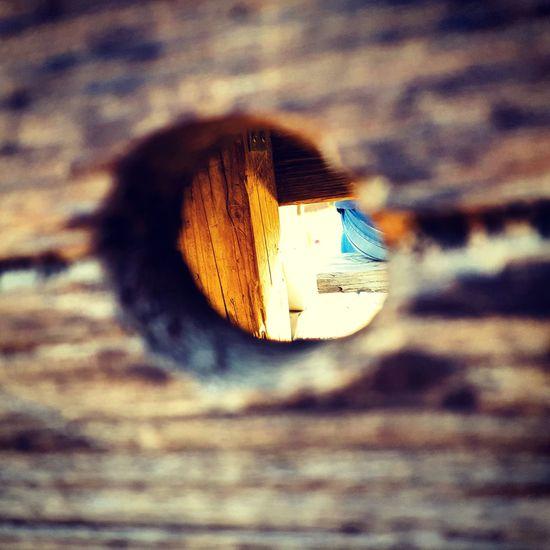 Peep Hole Hole Wood Holz Spion First Eyeem Photo