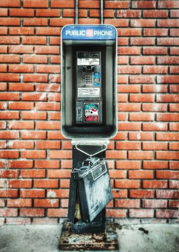 Good morning world... Payphone Vintage Technology The Minimals (less Edit Juxt Photography) Super Retro Brick Wall Telephone Red Brick The Other Side Of SiliconValley
