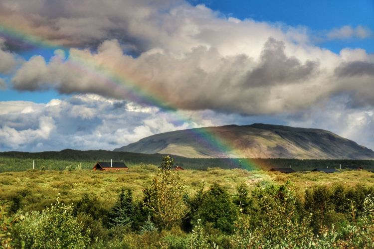 Grimsnes Vaðnes Summerhouse Rainbow Clouds And Sky Sky And Clouds Sky_collection