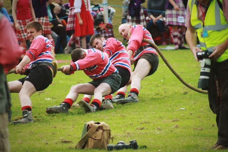 Tug Of War at the Dufftown Highland Games - Scotland Highland Games