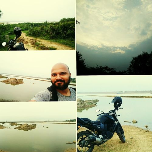 Solobiking on a Sundayevening Trail Biking Peaceful Evening Dusk Goodlife Yahama Motor Life