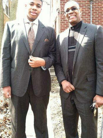Me & the pops after church #LikeFatherLikeSon #Easter #ChurchFlow
