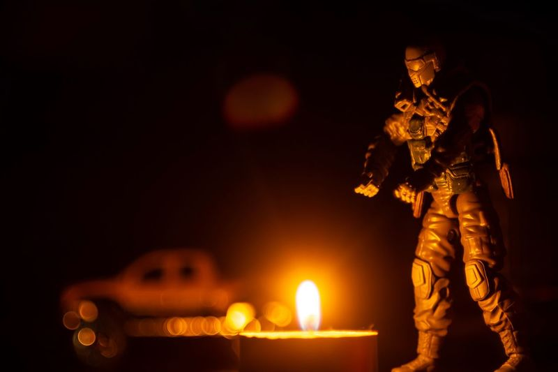 Human Representation Night Illuminated Representation Male Likeness Fire Burning Sculpture Candle Art And Craft Flame Figurine  Glowing Fire - Natural Phenomenon Celebration No People Statue Creativity Lighting Equipment