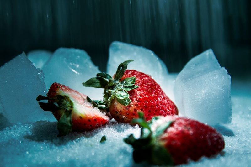 Fruit Strawberry Freshness Cold Temperature Frozen Food Photograph EyeEm Ready