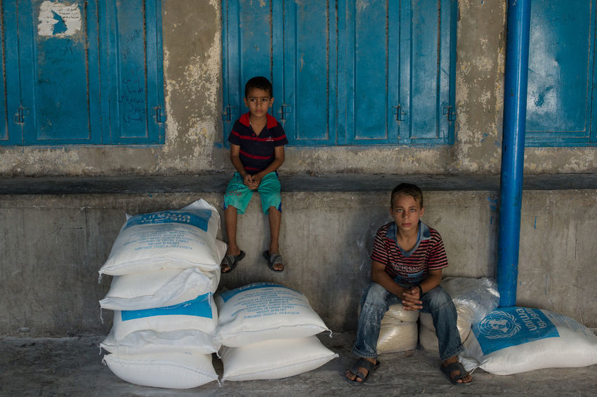 Palestinian boys during the war in Gaza 2014 Boys Children Gaza-Palestine Israel Palestinian Refugees