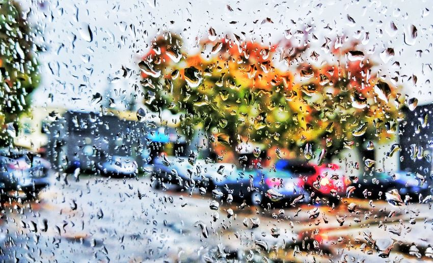 Glass - Material Window Drop Full Frame Backgrounds Wet No People Day Abstract Land Vehicle Water Close-up Indoors  Multi Colored Sky Nature rain Nature raining California Dreamin