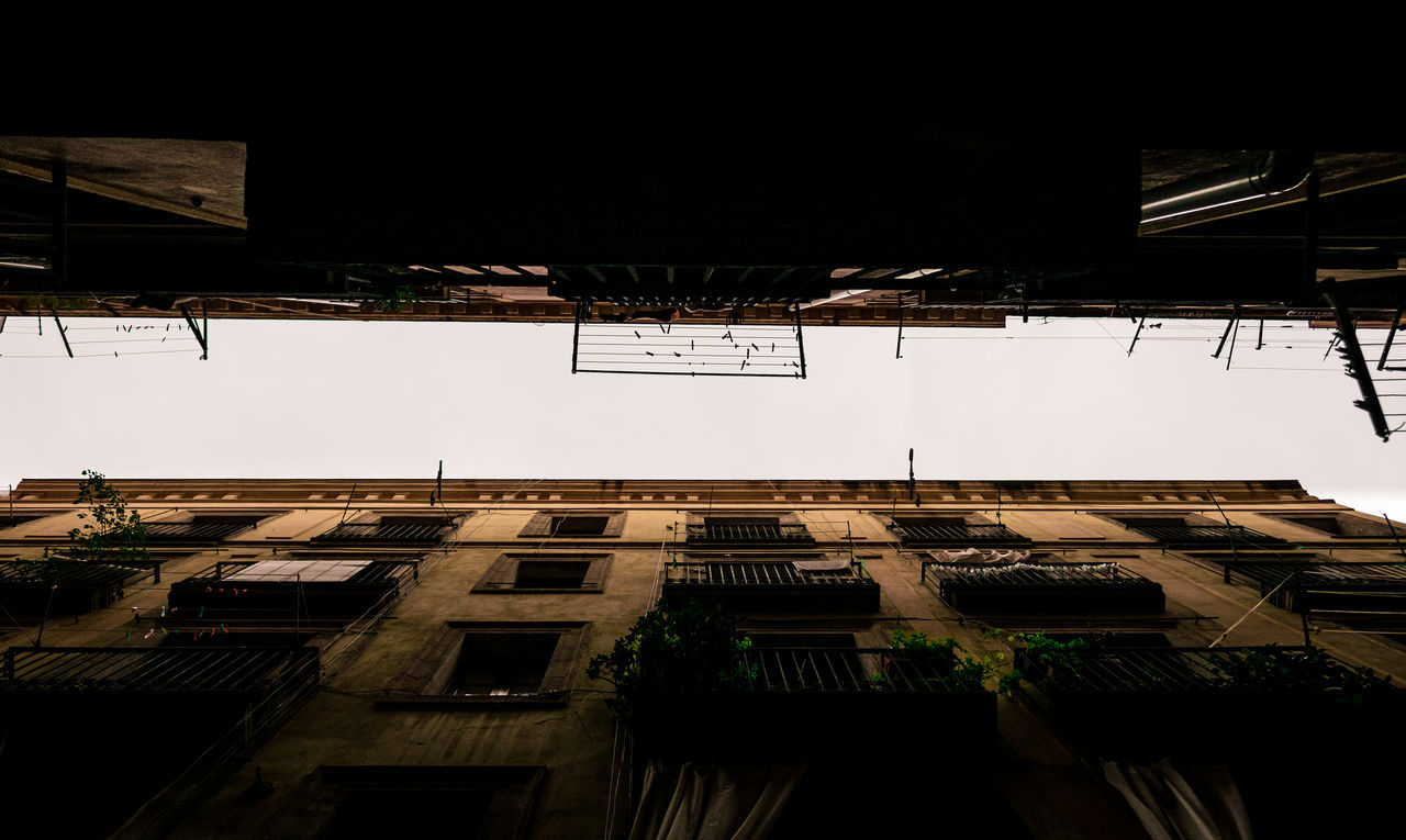 low angle view, architecture, building exterior, built structure, no people, outdoors, day, sky