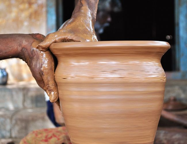 Clay Claypot Close-up Day Detail Hands Hands At Work Indian Pottery Pottery Pottery Art Red Clay Rural India Selective Focus Wooden Work Tool EyeEm Selects Investing In Quality Of Life Perspectives On People My Best Photo