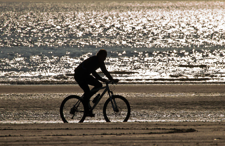 Beach Activities Beach Cyclist Beach Sports Beachphotography Cycliing The Sands Cyclist With Reflecting Light Evening Cyclist Leisure Activity Lifestyles Sand And Water Seascape Sport