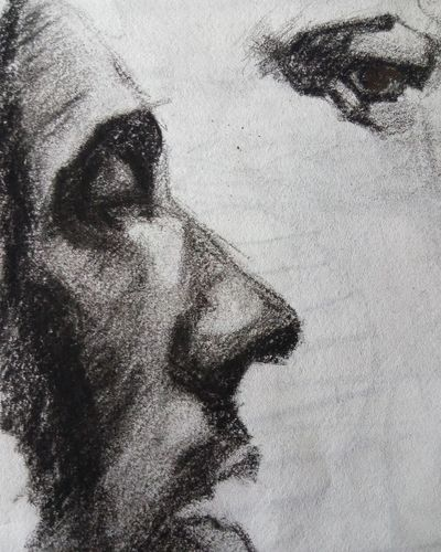Boceto. Close-up People Headshot Sketchart First Eyeem Photo Sketchbook Boceto Artistic Expression Drawing, Painting, Artwork Charcoal Drawing Portrait Contemporary Dibujo Lapiz Draw Graphite Charcoal Gallery Grafito