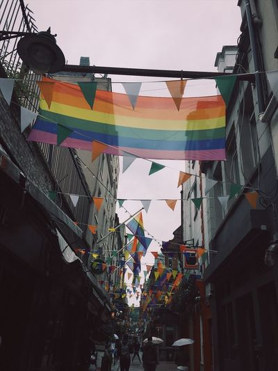Love is love 🏳️🌈🏳️🌈 Flag Low Angle View Love LGBTQ Rights Dublin Ireland