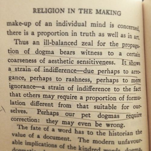 Alfrednorthwhitehead Religioninthemaking Page128 Truth Dogma Difference  Aesthetics Twitter