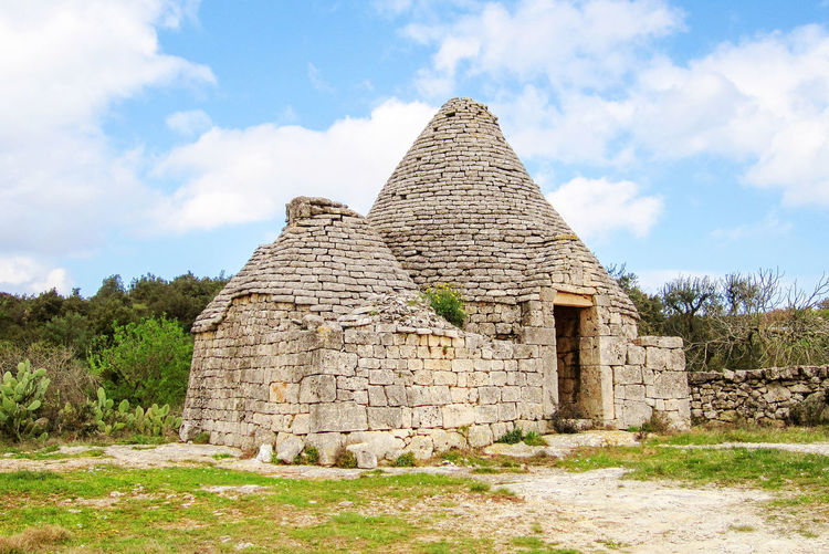 Ancient Trulli, traditional very old houses and olive trees in countryside in Puglia, Italy Olive Tree Prickly Pear Cactus Puglia Rural Tree Architecture Beauty In Nature Building Exterior Built Structure Countryside History Italy Landscape Nature Old Old Ruin Outdoors Salento Sky Stone Tradiional Home Trulli Trullo Valle D'itria Wall Stone