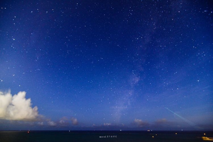 Night Star - Space Astronomy Sky Space Galaxy Milky Way Scenics Star Field Beauty In Nature Constellation Nature Sea Landscape No People Outdoors