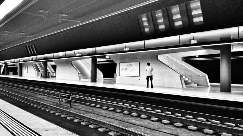New platforms Architecture_bw Train Station Durchmesserlinie