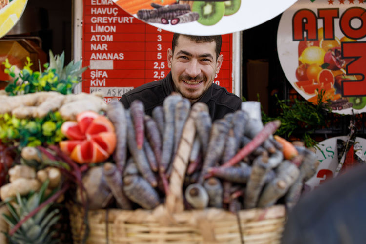 Juice Vegetable Fruit Market Turkey Istanbul Fresh