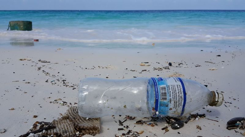 Beach Sand Sea Water No People Blue Nature Rubbish Plastic Bottle Bin Trash Clean Messy Beach Dirty Dirty Beaches Driving Koh Lipe Thailand Horizon Over Water Scuba Diving Travel Destinations Swimming Wave UnderSea