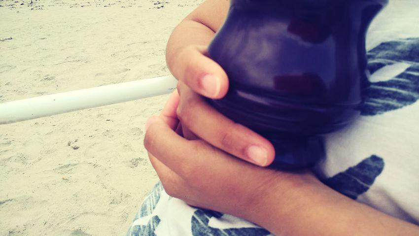 Playa Beach Yerba Mate InFusion EyeEm Selects Human Hand Men Sand Beach Holding Close-up