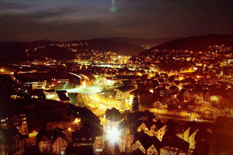 Night Lights Dillenburg Wilhelmsturm Hessen Ldk City Cityscape Illuminated Sky Architecture EyeEmNewHere