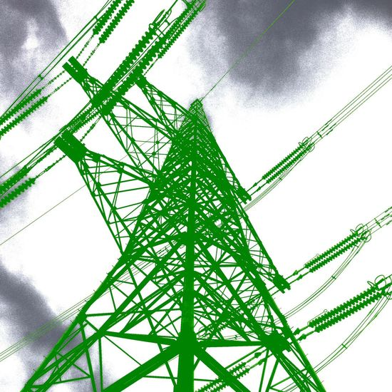 Green Energy IPSGreen IPhone Photoshoptouch Pylon Electricity  East Yorkshire Art Abstract Wolds