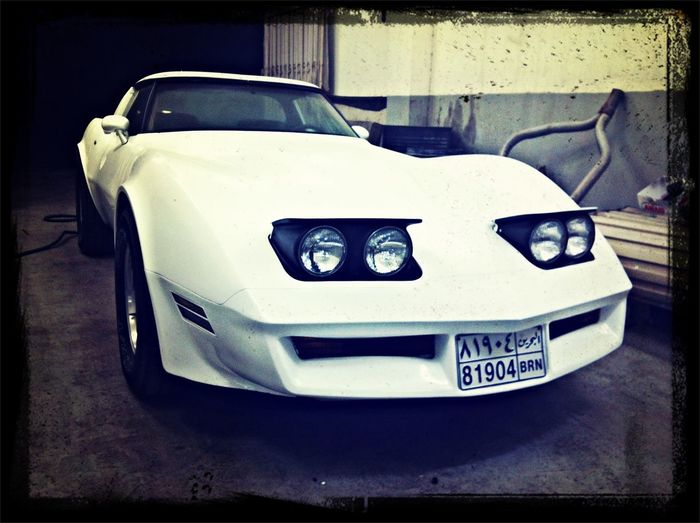 My old fantasy Corvette . In garage for fixing and repairs. Beautiful Car My Love