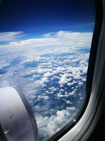 please keep the window shade opened Flying Blue Sky Plane Skyview Windowshade Clouds And Sky