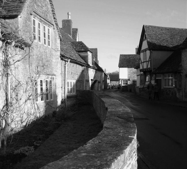 Ancient Town Black And White Photography English Town Lacock LacockVillage Old English Town Old Town Street