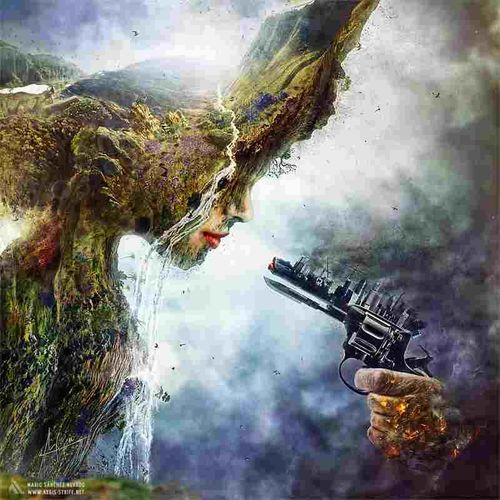 Visual Statements we as humans are killing mother nature. somebody! make a change!