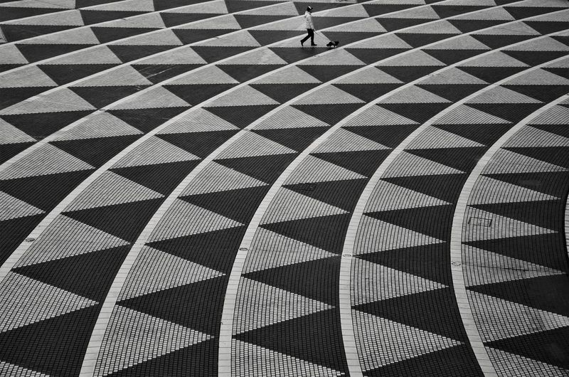 Pattern Backgrounds Full Frame Design High Angle View Geometric Shape Day Streetphotography Monochrome One Person Blackandwhite Tokyo Japan Photography EyeEmNewHere