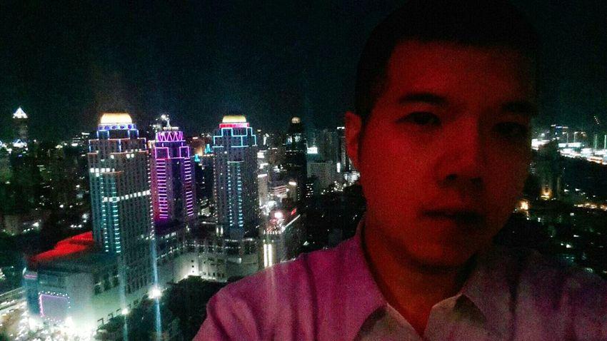 Bangkok view from skylounge 43fl