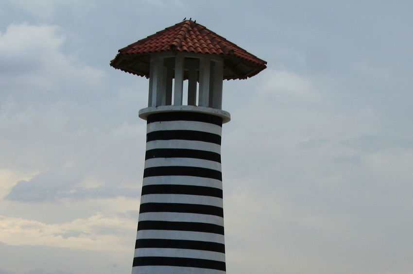 2007 Dominican Republic Dominicus Beach Lighthouse Architecture Building Exterior Built Structure Close-up Cloud - Sky Day No People Outdoors Sky Striped