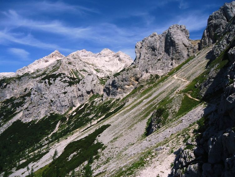 Slovenia Slovenia ❤ Adventure Beauty In Nature Challenge Environment Formation Freedom Krn Land Landscape Mountain Mountain Peak Mountain Range Nature No People Outdoors Rock Rock - Object Scenics - Nature Sky Slovenian Alps Solid Steep Strength