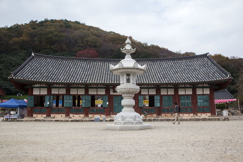 autumn scene of Seonunsa, a famous Buddhism Temple located in Gochang, Jeonbuk, South Korea Architecture Autumn Autumn Colors Buddhism Building Exterior Built Structure Day Fall Nature No People Outdoors Religion Sculpture Sky Statue Temple Tree