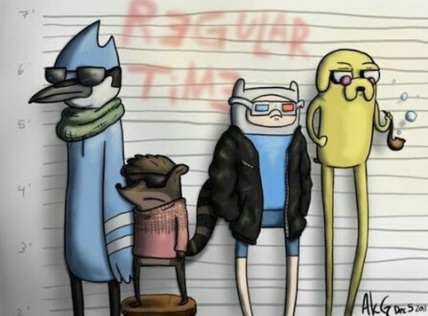 Drawing Regular Show E Adventure Time