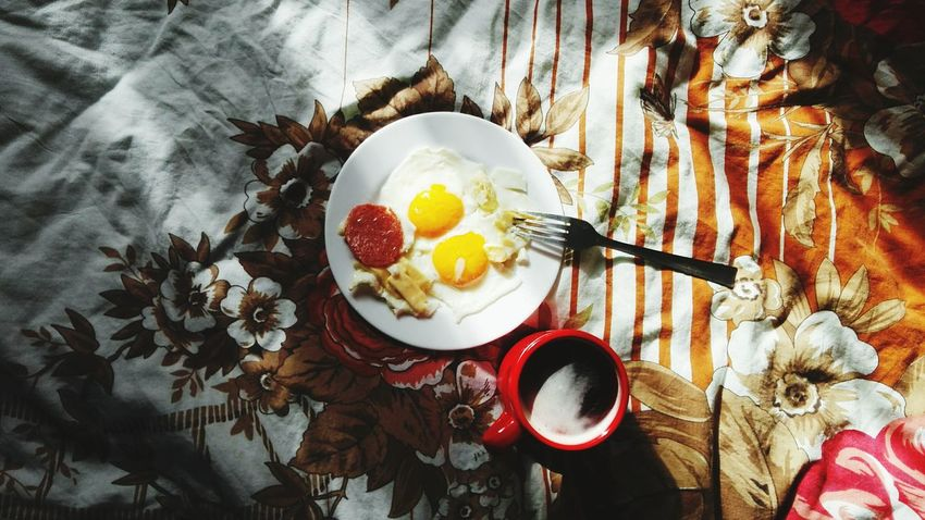 Egg Indoors  Breakfast High Angle View No People Egg Yolk Food Sweet Food Homemade Tea - Hot Drink Freshness Day
