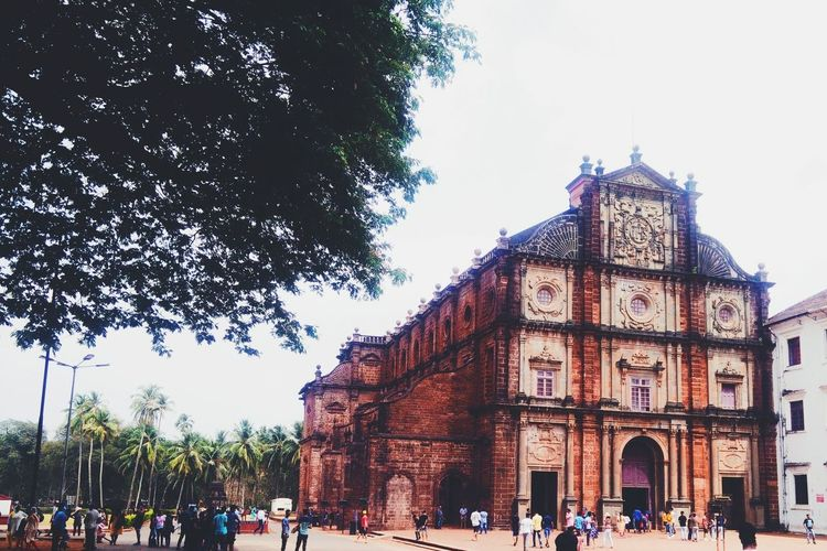Old Building  Church Portugese Church Tree Politics And Government Men Sky Architecture Building Exterior Built Structure Historic