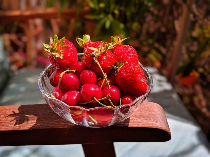 Red season Red Fruits Fruits Cherry Cherries Strawberry Strawberries Fruit Red Table Close-up Food And Drink