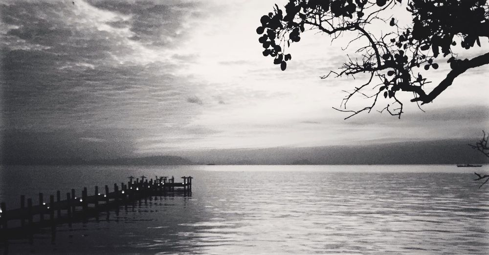 Cambodia Kep Sunset Ocean Sailing Club First Eyeem Photo Black And White Clouds And Sky