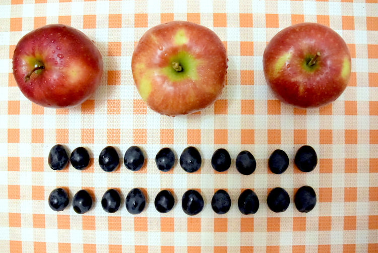 Directly above shot of fruits
