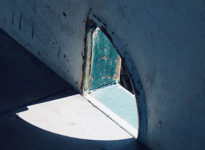 Close-up of window on wall