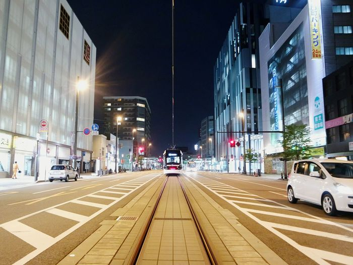 Toyama Central Tram 😉🌓🚎🚇 AnnelGomez Travel Pinay Traveler Eyeem Pinay Night Lights The Street Photographer - 2015 EyeEm Awards City Lights Central Tram Night Photography Cityscapes The Tourist