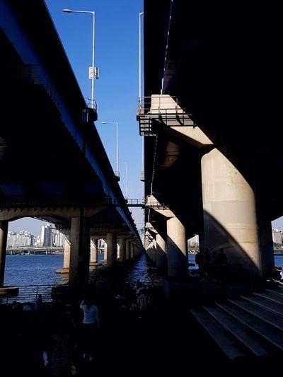 Bridge - Man Made Structure Architecture Night Built Structure Outdoors Sky Architecture Transportation City Han River Han River Park Han River Bridge