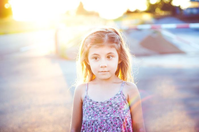 THE SUNSHINE| Children Only Child Childhood Girls Summer Portrait People Outdoors Sunset Day Sky Beauty Life EyeEm Best Edits EyeEm Best Shots Lightroom EyeEm Selects Close-up Fresh On Eyeem  Headshot EyeEm Gallery Freshness Beauty In Nature Colourful Cute