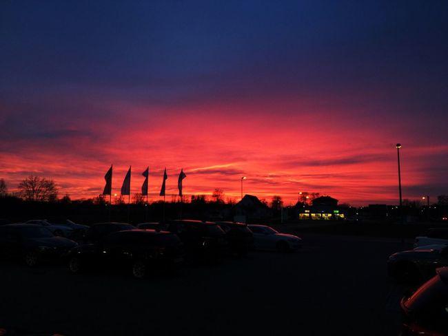 Sonnenuntergang Sunset Abendsonne Abendröte Abendrot Himmelskunst Himmel First Eyeem Photo Perspectives On Nature