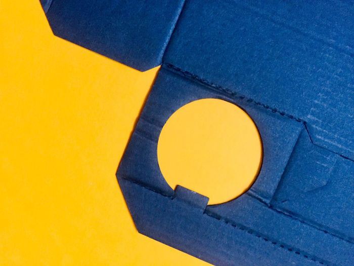 Yellow Blue Copy Space No People Geometric Shape Shape Indoors  Paper Close-up Studio Shot Art And Craft Design Circle High Angle View Still Life Craft Full Frame Single Object Backgrounds The Creative - 2019 EyeEm Awards